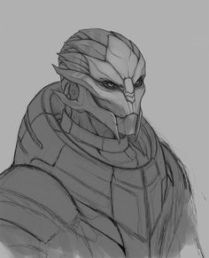 Mass Effect Characters, Fantasy Characters, Thane Krios, Human Body Drawing, Wolf Warriors, Warframe Art, Mass Effect 1, Alien Design, Fantasy Races