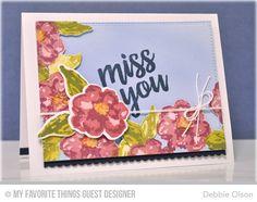 Watercolor Flowers, Written in Watercolor, Blueprints 20 Die-namics, Watercolor Flowers Die-namics - Debbie Olson  #mftstamps