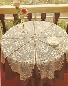 Home Decor Crochet Patterns Part 78 - Beautiful Crochet Patterns and Knitting Patterns Crochet Tablecloth Pattern, Crochet Cushions, Crochet Doily Patterns, Crochet Chart, Crochet Designs, Crochet Doilies, Crochet Lace, Mantel Redondo A Crochet, Fillet Crochet