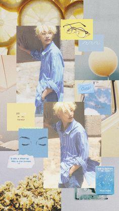 Wallpapers Kpop, Seventeen Wallpapers, Cute Wallpapers, Blue Aesthetic, Kpop Aesthetic, Jeonghan Seventeen, Eric Nam, Reasons To Live, Pledis Entertainment