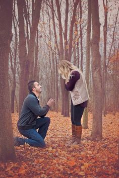 Gorgeous proposal in the woods, and his speech to her was so romantic. <3