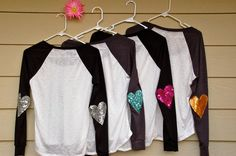 "The ""Dazzle Patch"" Baseball Tee -  w/Heart Elbow Patch"