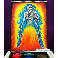 Aelin Galathynius, Throne Of Glass. Drawing by Rhona Parra (ig: @artfromdreams)