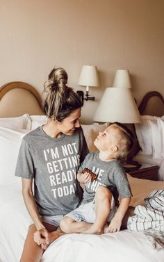 "I'm Not Getting Ready Today Tee. This perfect tee matches with our ""Me Either"" kids tee and ""Me Neither"" adult tee. Fits slightly oversized."