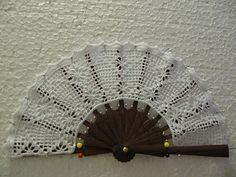 Delicate fan ♥LCF-MRS♥ with diagram---- Haciendo un Abanico de Ganchillo