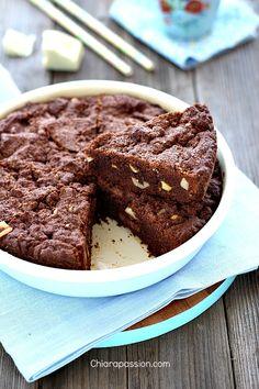 Torta cookie al cioccolato in padella