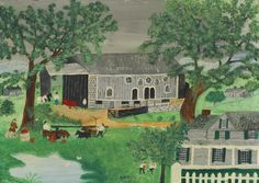 Pennsylvania Barn by Anna Mary Robertson Moses Handmade oil painting reproduction on canvas for sale,We can offer Framed art,Wall Art,Gallery Wrap and Stretched Canvas,Choose from multiple sizes and frames at discount price. Naive, Oil Painting On Canvas, Painting & Drawing, Maud Lewis, Grandma Moses, Oil Painting Reproductions, American Artists, Framed Art, Folk Art