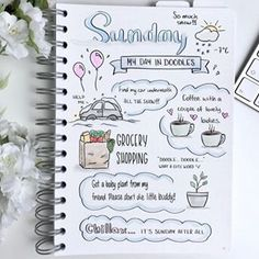 I think it's safe to say that Sundays and Tuesdays are my doodle days This weekend has been filled with snow, snow, more snow and… interesting encounters. It's time to get ready for a new week! Journal Layout, My Journal, Journal Ideas, Daily Journal, Fitness Journal, Bullet Journal 2020, Bullet Journal Inspiration, Bullet Journals, Filofax