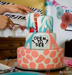 Boy or girl gender cake