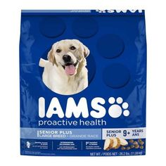 IAMS PROACTIVE HEALTH Senior Plus Large Breed Dry Dog Food 26.2 Pounds Chicken * Unbelievable dog item right here! : Dog food brands