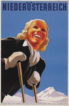 Vintage Ski Posters of Europe Vintage Ski Posters, Retro Poster, Art Deco Posters, Jet Ski, Vintage Advertisements, Vintage Ads, Oahu, Rockabilly, Harry Potter Poster