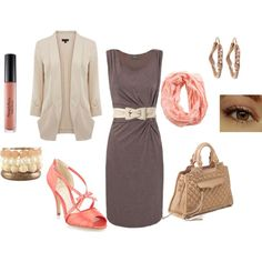 Untitled #13, created by beanis44 on Polyvore Love the dress and scarf, can do without the rest