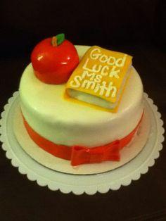 Student teacher cake Teacher Cakes, Student Teacher, Cake Creations, Desserts, Food, Tailgate Desserts, Deserts, Essen, Postres