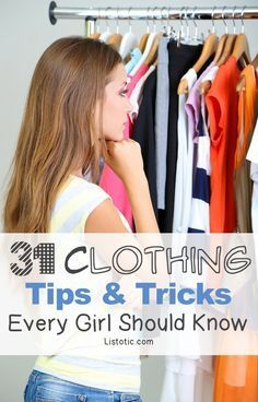 Clothing Tips Every Girl Should Know - Sad to say that the tip for stretching jeans caught my eye. :/