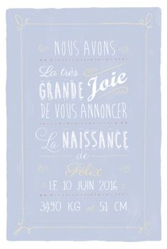 Faire-part naissance Happy day by Sibylle Derkenne pour www.fairepartnaissance.fr #fairepartnaissance #birthannouncement