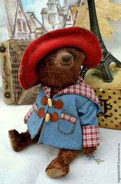 """Плюшевый мишка """"Паддингтон"""" - коричневый,Паддингтон,мишка,мишка тедди"""