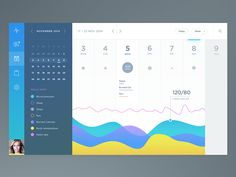 Dribbble - Health App Calendar by Jakub Antalík