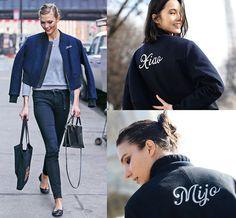 bomber jacket monogram - Google Search