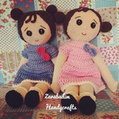 Leonor and Carlota Amigurumi doll