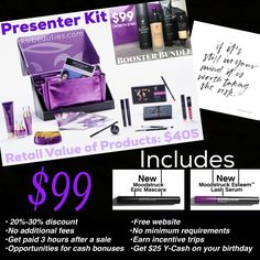 Younique Presenter Kit - $405 in makeup for only $99