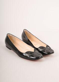 Black Patent Leather Square Toe Flats – Luxury Garage Sale