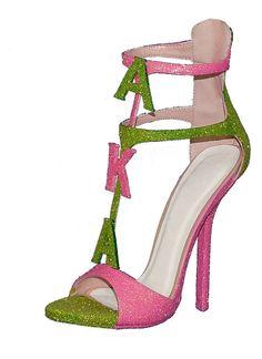 Alpha Kappa Alpha Pink Green Ivy Heels Pearls Pin Shoes Hat Shirt Dress Sorority