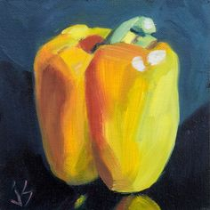 """Yellow Pepper Refined"" original fine art by Johnna Schelling"