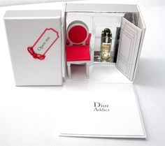 Limited Christian Dior Addict Gift Box Chair Miniature dollhouse collection #Dior