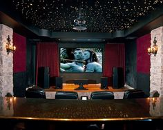 - A home entertainment center is a major piece of furniture and can hold many major electronic items, such as a television set, a VCR and/or DVD player,. Home Theatre, Home Theater Setup, Best Home Theater, Home Theater Speakers, Home Theater Seating, Home Theater Design, Theater Seats, Cinema Theatre, Cinema Room