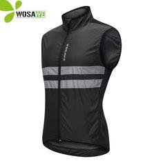 Great for Men Windproof Cycling Vest Sleeveless Gilet Bike Waistcoat Reflective Top Jacket Mens Coats Jackets from top store Cycling Jacket Mens, Orange Vests, Sports Vest, Bicycle Clothing, Mens Windbreaker, Riding Jacket, Mtb Bike, Road Bike, Jackets