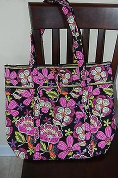"""NEW WITH TAGS VERA BRADLEY PIROUETTE PINK  LARGE XL TOTE """"VERA TOTE"""""""