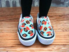 Blythe - Fashion Shoes - Converse Style Sneakers with Paul Frank pattern - BCON-004PF