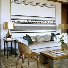 Tailored... #StephenSills #interior #interiordesign #RoyLichtenstein #painting #ClaudeLalanneGinko #chairs #CHinspiration #carriehayden #haydencollective