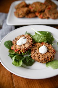 12 best healthy recipes for your next cookout: Salmon Quinoa Burgers with Mint-Yogurt Sauce by Kath Eats Real Food.
