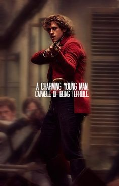 yeah, no. Correction: Enjolras, is a gorgeous, young, pretty, beautiful, singer, who is BEAUTIFUL. and I gues capable of being terrible too.
