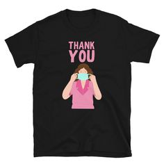 Thank You To Every Nurse, Doctor And Healthcare Worker Stay Home Stay Safe Unisex T-shirt Corona Shirt, Hero Of The Day, Unisex, Graphic Shirts, Stay Safe, T Shirts For Women, Trending Outfits, Windows Server, Hospitals