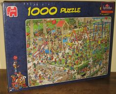 Fun Jan Van Haasteren The Playground themed jigsaw puzzle. Fun image.