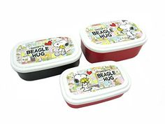Bento: Snoopy Design Nesting Microwavable Food Storage Lunch Boxes Set of 3pcs