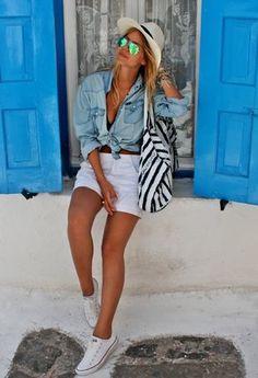 Zara  Shirt / Blouses, Emporio Armani  Bolsos and Zara  Pantalones cortos
