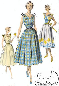 1950s Vintage Sewing Pattern Advance 5627 BOMBSHELL by sandritocat, $28.00