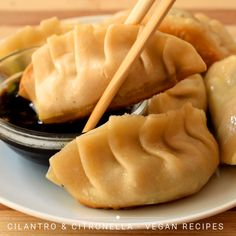 These vegan potstickers are better than takeout with a tasty mushroom and veggie filling and homemade wonton wrappers to ensure that theyre vegan! Once youve mastered these bad boys youll never order takeout again! Mexican Food Recipes, Vegetarian Recipes, Cooking Recipes, Firm Tofu Recipes, Wonton Recipes, Vegan Recipes Videos, Cooking Tips, Tasty Videos, Food Videos