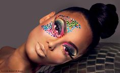 "Mario Francis' ""FOLLOW THE RAINBOW"" look. Black Opal's ""Beat That Face"" September 2013 Winner."