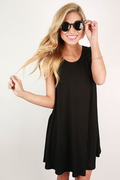On Point Tank Dress in Black