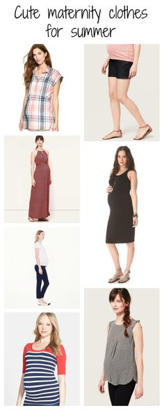 Cute maternity clothes for summer -- great tops, pants and dresses!