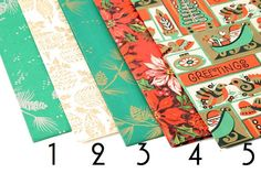 Assorted Vintage Christmas Present  Wrapping Paper by Circa810, $12.00