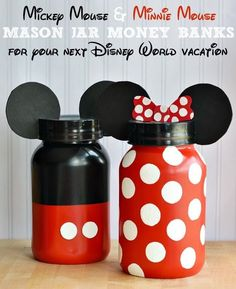 SUPPLIES NEEDED 2-1 Gallon Ball mason Jar 1 Can Of Red Spray Paint 1 Can Of Black Spray Paint 1 Can Of Clear Glass Spray Paint Painters Tape Paper Towels (or something similar) 1 Small Bottle of Wh...