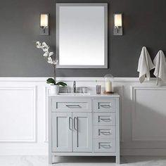 Ove Decors Tahoe 36 Single Bathroom Vanity Set with Mirror in Dove Gray