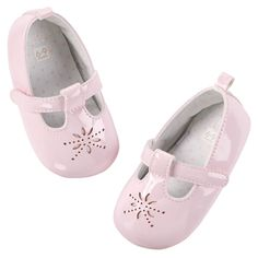 Carter's baby girls pink  Bow Flats shoes size 9-12 month NWT #carters #CribShoes