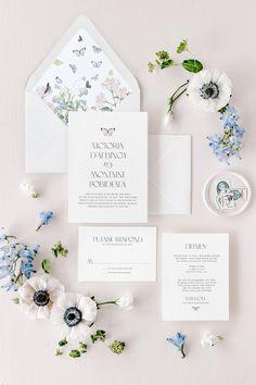 Calligraphy Wedding Invitation Floral Invitation Marielle Wedding Invitation Wedding Invitation Crest