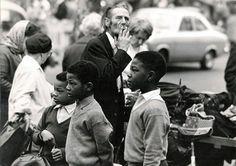 Two boys on Portobello Road, Notting Hill, London, UK, 1969, photograph by Martin Dee.